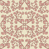 vector seamless romantic background with vintage floral ornament