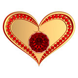 Ruby heart jewelry
