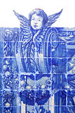 Handmade traditional blue Portugese Tile (azulejos), Lisbon, Eur