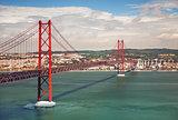 25th of April Suspension Bridge in Lisbon, Portugal, Eutope