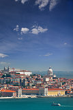 Panorama of Alfama and Graca, cityscape of Lisbon, Portugal, Eur