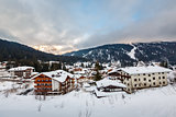 Ski Resort of Madonna di Campiglio in the Morning, Italian Alps,