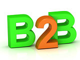 B2B 3d word colour bright letter