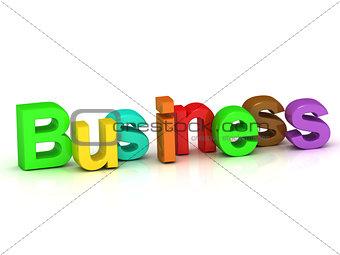 business 3d word colour bright letter