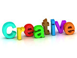 creative 3d word colour bright letter