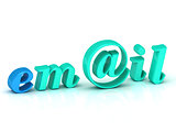 email 3d word colour bright letter