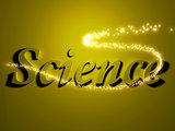 Science 3d inscription with luminous line with spark