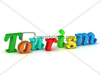 tourism 3d word colour bright letter