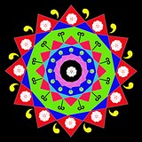 Colored decorative mandala