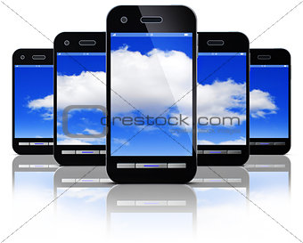 smartphone and cloud