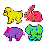 Cute Animal Vector Pack