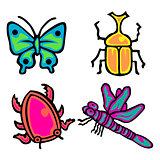 Cute insect Vector Pack