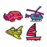 Cute Transportation Vector Pack