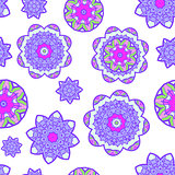 Abstract flower seamless pattern. Vector illustration.