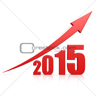2015 growth red arrow