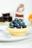 blueberry cream cupcake