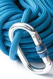 Climbing rope and karabiner