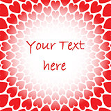 Design red heart perspective background for text. Valentines Day