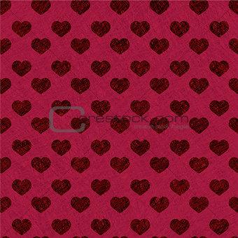 Valentine background - seamless heart texture