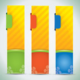 Summer banners - vector illustration with vibrant colors