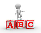 Alphabet ABC cubes