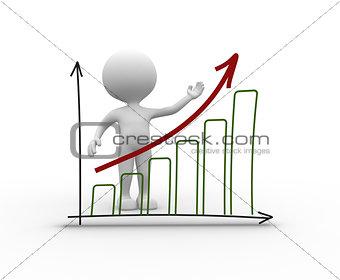 Chart financial. Success