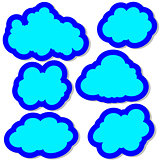 Set of clouds in the sky. Vector illustration
