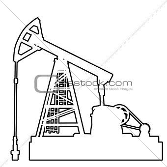 Oil pumpjack. Oil industry equipment.
