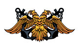 Maritime emblem with double headed eagle
