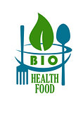 Bio health food icon