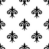 Fleur de lys seamless pattern background