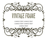 Vinatge frame with curlicues and swirls