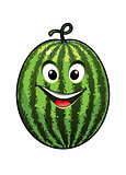 Cheerful goofy watermelon