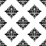 Abstract white and black seamless pattern