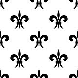 Repeat seamless pattern of fleur de lys