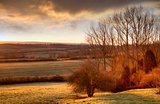 Sun rising over Gloucestershire