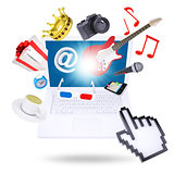 Laptop and multimedia objects