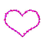 Big heart made ​​up of little hearts