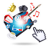 Tablet pc and multimedia objects