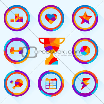 set of icons about sports