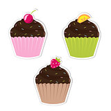 Set Cupcakes Labels