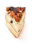 biscuit cake with prunes and walnuts