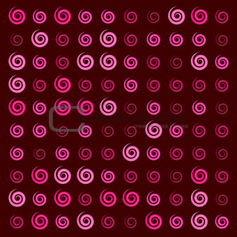 3d glossy pink red Ionic swirl curl pattern