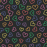 Pattern with hearts. Vector illustration