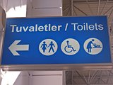 sign in airport in Turkey
