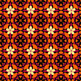 Orange pattern with flowers