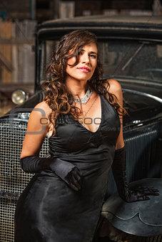 Calm Pretty Woman in Black