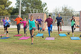 Group of Adults Exercising