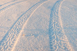 Tire tracks on the snow 03