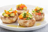 baked stuffed champignons with vegetables